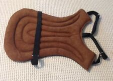 Brown Western Saddle Seat Cover Saver Suede