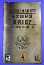 Mercenaries Exops Brief: The Song Initiative Playstation 2 PS2 Manual Only