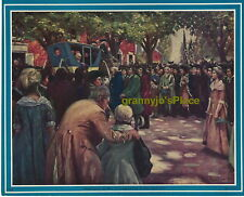 1930's I Roscoe Art Print. Kodachrome Type Linen Finish Paper George Washington