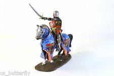 Equestrian knight of the 14th century 1/32 Tin Toy soldier Handmade Painted
