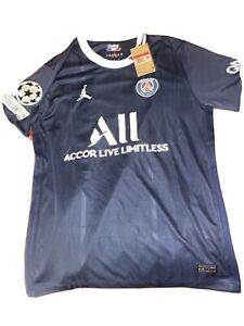 2021/2022 Nike Jordan PSG Home Jersey with UCL Patch - Lionel Messi #30 - Large