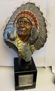 Chief Joseph 1991 Chilmark Joe Slockbower Indian Bust 330/750 APPRAISED @ $800