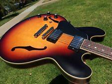 Gibson ES-335 Satin Sunburst Lefty Left Handed w/ COA