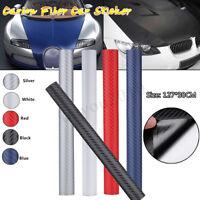 3D Carbon Fiber Auto Car Sticker Vinyl Decal Wrap Sheet Roll Film DIY 127*30cm
