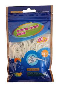 Dental Floss Picks - Pack of 50
