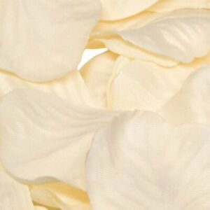 Cream Rose Petals Fabric Confetti (Bulk Bag of 1000 petals)