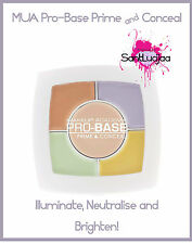 MUA Pro-Base Prime & Conceal Palette Concealer Yellow Green Lavender Corrective