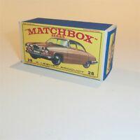 Matchbox Lesney 28 c Jaguar Mk 10 empty Repro E-E3 style Box