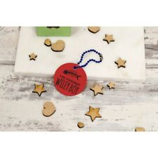 Personalised Pet Tags ID Collar Dog Cat 25mm Paw Print Custom Made Tag
