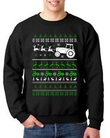 TRACTOR CHRISTMAS UGLY JUMPER SWEATER XMAS FARMER