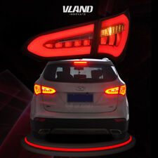 LED Tail Lights For Hyundai Santa Fe 2013-2015 Rear Lamp Assembly Custom