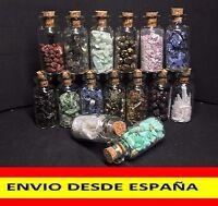 BOTE DE MINERALES Mineral Boat - Turmalina Fluorita Rubelita Amazonita Opalo