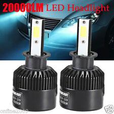 110W H3 Headlights CREE LED COB 20000LM Car Kit Driving Bulbs Lamps 6000K White