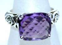 925 Sterling Silver Amethyst Rings Purple Birth stone Ring Sizes K to Y; 5 to 12