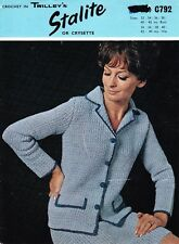 VINTAGE 60'S CROCHET PATTERN SMART SUIT FOR WOMEN