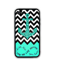 Chevron Anchor Rubber Silicone Case For iPhone X 8 7 6S SE 5 Personalized Custom