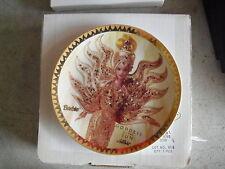 1995 Enesco Bob Mackie Goddess of the Sun Barbie Collector Plate MIB