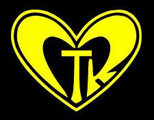 "CTR CHOOSE THE RIGHT HEART VINYL DECAL YELLOW 4X5.5"" MORMON LDS CHRISTIAN LOVE"