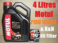 4L MOTUL 7100 10W40 OIL AND K&N KN138 FILTER CHANGE SUZUKI GSXR 600 K8 08 2008