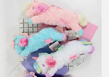Sanrio Little Twin Stars Unicorn Pink Plush Make Up Pencil Case Kid's Bag 3PCS