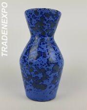 Vintage 60-70s SCHEURICH KERAMIK Blue Diabolo Fat Lava Vase West German Pottery