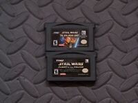 Lot Nintendo Game Boy Advance GBA Games  Star Wars The New Droid Army, Flight of