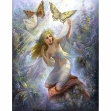 Angel Girl and Butterfles Diamond painting Kit 40cm x30 cm like cross stitch