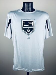 Men's Los Angeles Kings Grey Chip Pass Performance Synthetic Tee NWT Large