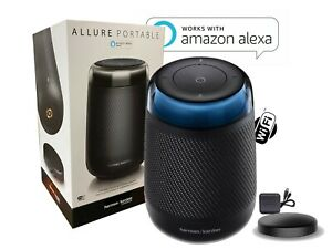 New Harman Kardon Allure Portable Speaker with Alexa Charger & Charging Dock