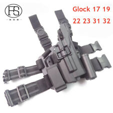 Tactical LV3 Leg Holster With Flashlight Gun Carry Military Holster for Glock 17