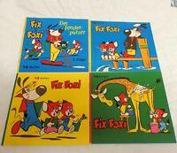 Vier Fix und Foxi Malhefte aus den 1960er Jahren sehr schön