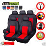 Universal Car Seat Covers Faux Leather Black Red For Women Girls VAN Truck SUV