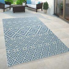 In- & Outdoor-Teppich, Für Balkon Und Terrasse Mit Skandi-Muster, In Blau