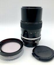 Superb NIKON Nikkor 135mm TESTED Ai f3.5 manual LENS caps & Hoya filter FREEPOST