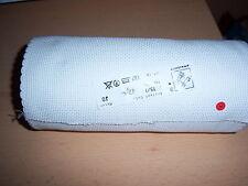Stickband Aidastoff weiß mit weißen Rand 19,50 cm 7435/1