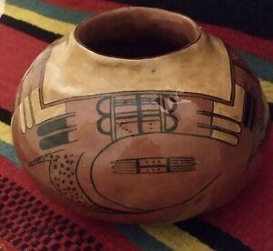 RARE Old Nampeyo Style Hopi Hand Made Native American Seed Jar Pottery