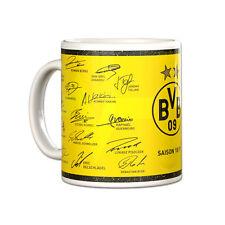 BVB Borussia Dortmund Kaffeebecher / Kaffeetasse / Tasse ** Unterschriften 18/19