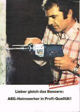 AEG Elektro- Handwerkzeuge, orig. Programm- Prospekt inkl. Preise ca. 70er Jahre