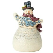 Jim Shore Victorian Snowman With Scarf Figurine 6004184 New