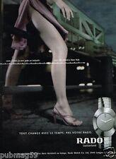 Publicité advertising 2001 La Montre Rado switzerland