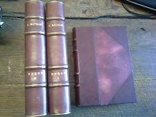 Oeuvres de André Maurois 3 volumes  / Byron 2 tomes / la vie Disraëli