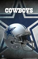 DALLAS COWBOYS - HELMET LOGO POSTER - 22x34 NFL FOOTBALL 14985