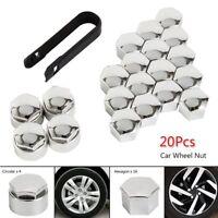 Universal 20Pcs Wheel Nut Caps Bolt Covers FOR Audi VW Vauxhall BMW Bora 17mm UK