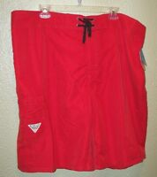 COLUMBIA SPORTS WEAR--sz30--MENS SHORTS RED/ORANGE OMNI-SHADE 30 SPF - NWT