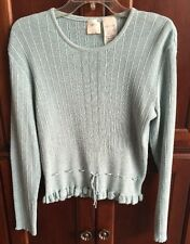 OILILY WOMENS FASHION SHIRT TOP KNIT LONG SLEEVES BLUE NWOT