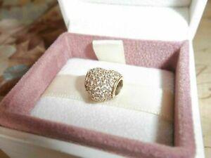 Genuine Authentic Pandora 14ct Gold Pave Heart Charm 750828CZ G585 ALE RRP £399