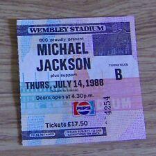 Michael Jackson BAD Ticket. Wembley July 1988
