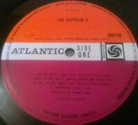LED ZEPPELIN - II LP / RARE UK 2ND PRESS 'MISPRINT' PLUM ATLANTIC 588198 LEMON