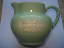 SCARCE C1930S WILEY'S BLACK LABEL WHISKY & TENNANTS GOOD & STRONG ADV WATER JUG