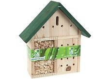 WOODEN GARDEN INSECT BEE BUGS HOUSE HANGING HOTEL HOME LADYBIRD NEST BOX NATURE